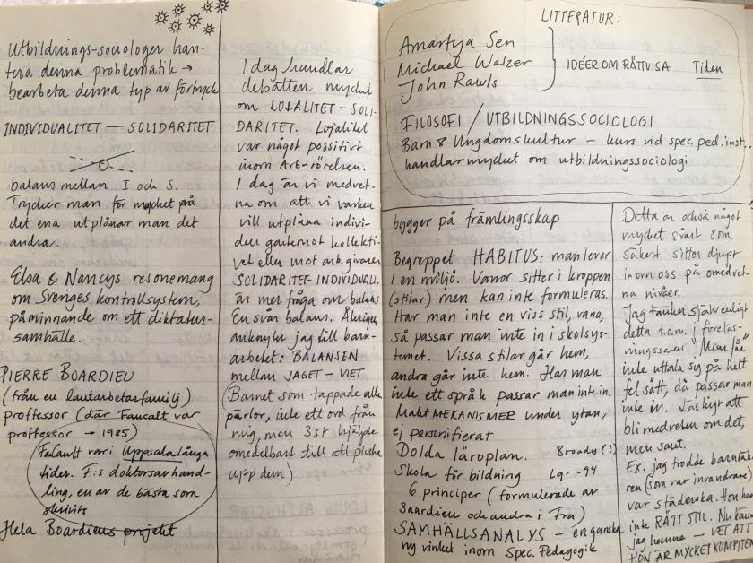 Anteckningar specialpedagogik 1994.