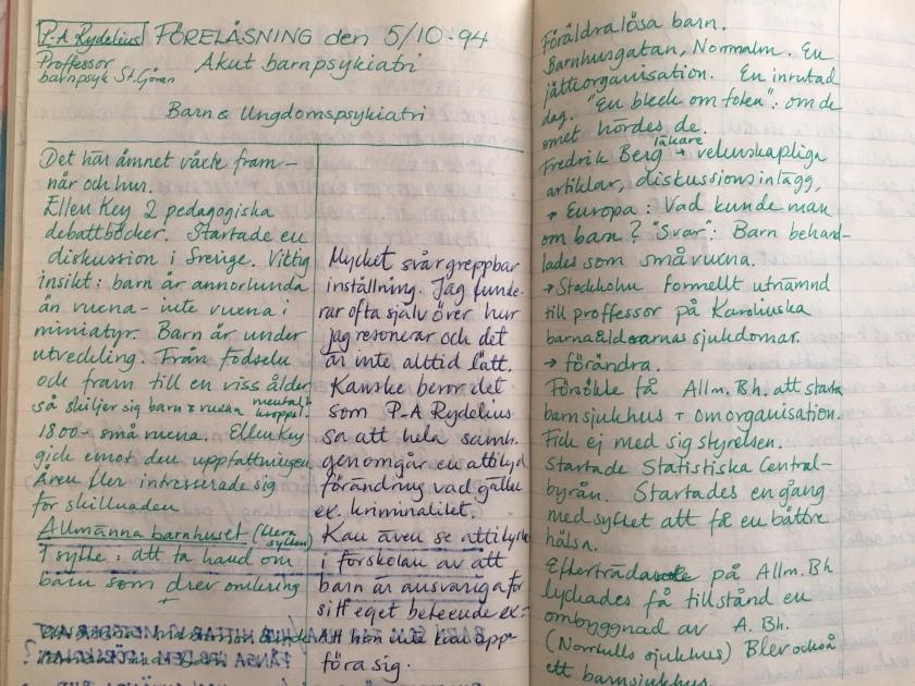 Anteckningar från masterprogrammet i specialpedagogik 1994